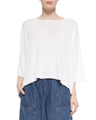 Hand-Loomed Linen T-Shirt, Seamed Japanese Trousers, Fringe Linen Scarf & ...