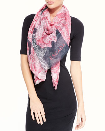 Thilo Westermann Floral-Print Scarf