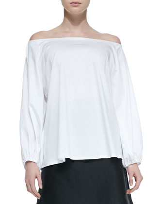 Pepper Off-the-Shoulder Top & Sprecher Full A-Line Easy Skirt