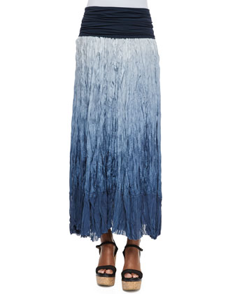 Double Layered Racerback Tank Top, Dip Dye Broomstick Skirt, Leather ...