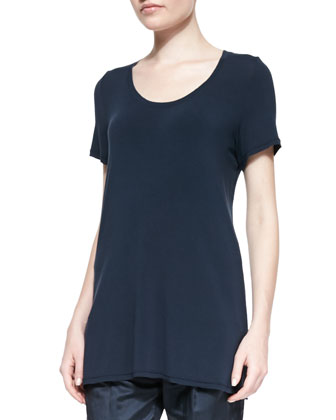 Fluid Jersey Long Tee, Deep Indigo