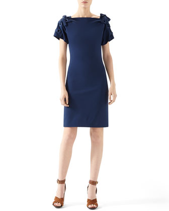 Viscose Jersey Lace Up Dress