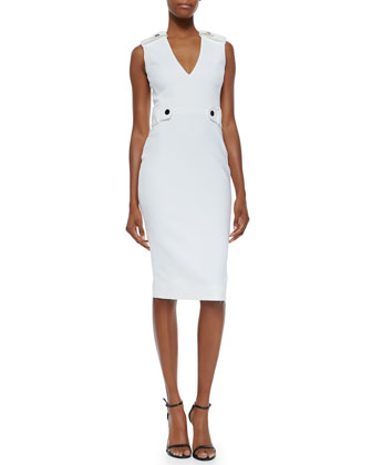 Tabbed Ponte Sheath Dress