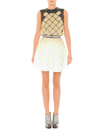 Basket-Woven Ombre Dress