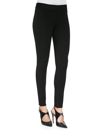 Double-Faced Jersey Leggings, Black