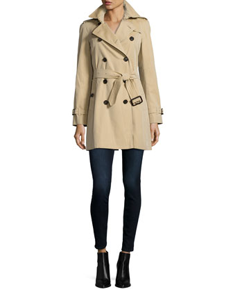 The Westminster - Mid-Length Heritage Trench Coat, Honey