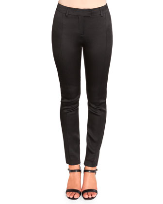 Flat-Front Pants with Ankle Zips