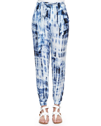 Teaser Scoop-Neck Ribbed Tank & Adria Tie Dye Harem Pants