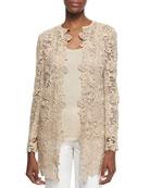 Thora Paisley Lace Short Coat, Honey