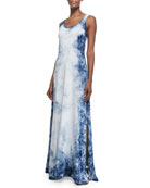 Peggy Tie-Dye Tank Dress, Indigo Tie Dye