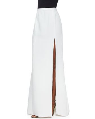 High-Slit Long Column Skirt