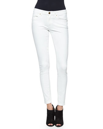 Denim Skinny Jeans, White