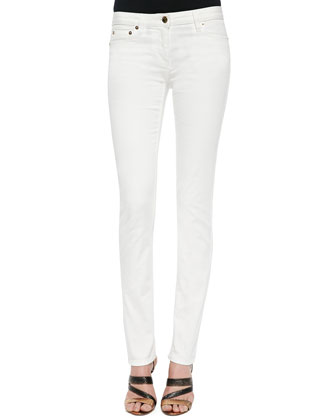 Bi-Stretch Skinny Jeans, White