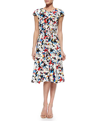 Tango Dancer-Print A-Line Dress