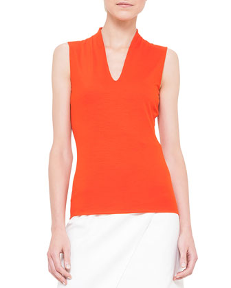 V-Neck Jersey Top, Akai