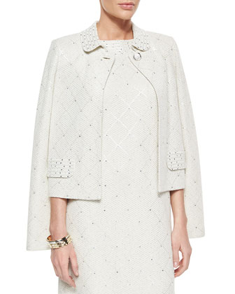 Paillette Sparkle Mini Tweed Jacket, Paillette Sparkle Mini Tweed Dress, ...