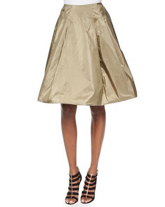 Cropped Safari Jacket, Taffeta Full Skirt & Beaded Tulle Sleeveless Top
