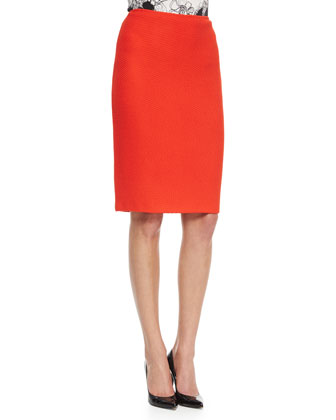 Textural Knit Pencil Skirt