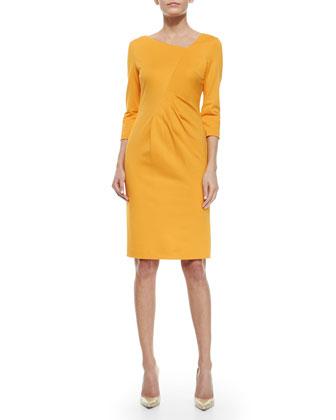 Dondi Asymmetric Ruched-Front Dress