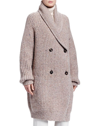 Shetland Ribbed Maxi Sweater, Cashmere Turtleneck Sweater & Crepe Sable ...