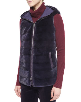 Windmate Mink Fur Reversible Vest