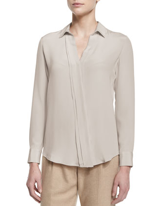 Rosalyn Bias-Placket Blouse