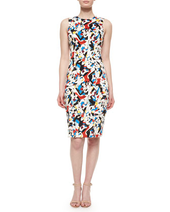 Tango Dancer-Print Sheath Dress