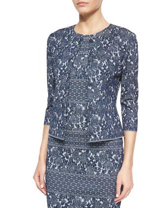 Floral Jacquard Knit Jacket & Dress