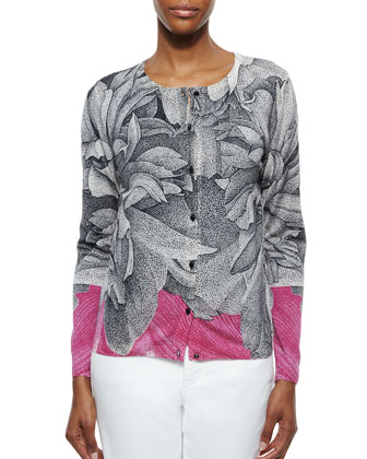 Thilo Westermann Orchid-Print Cardigan & Thilo Westermann Orchid-Print Tank Top