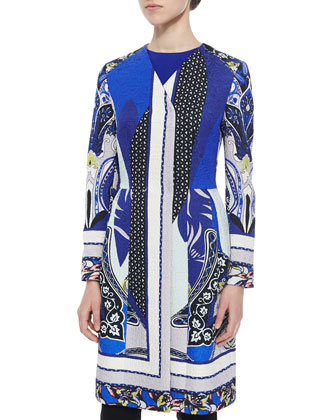 Paisley Spade Peplum Coat, Sleeveless Solid Cady Top & Stretch-Wool ...