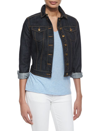 Dymchurch Denim Cropped Trucker Jacket