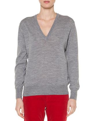 Sporty Velvet Fleece-Trimmed Toggle Coat, Slub-Knit Merino Pullover & ...