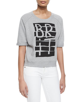 Short-Sleeve Brit-Graphic Sweatshirt