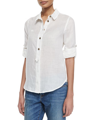 Long-Sleeve Ramie Shirt