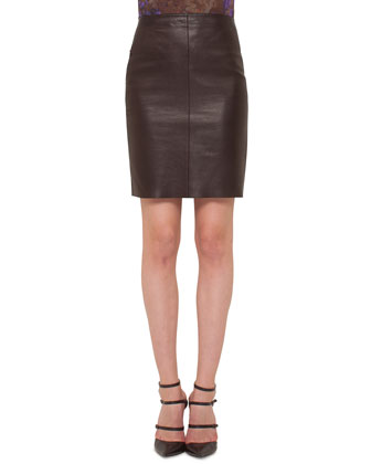 Napa Leather Pencil Skirt