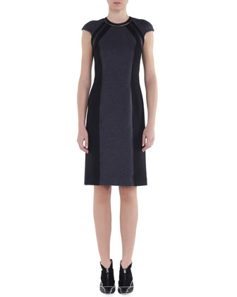 Bicolor Interlock Jersey Dress