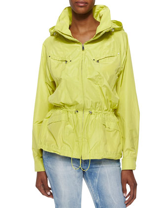 Water Repellant Hooded Tech Jacket