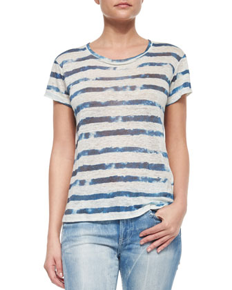 Whitney Tie Dye Striped Tee