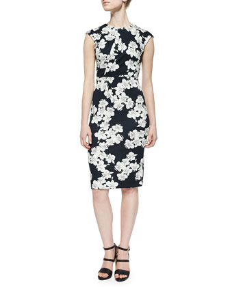 Analena Floral-Print Pencil Dress
