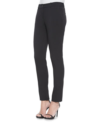Skinny Stretch-Wool Dress Pants