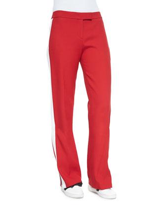 Oversize Vest, Ribbed Turtleneck & Side-Stripe Pants