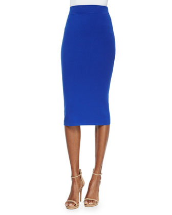 Crewneck Crop Top & Stretch Skirt