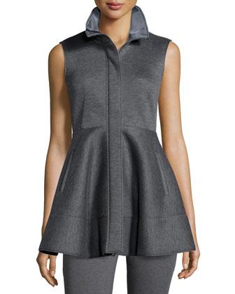 Zip-Front Peplum Jacket