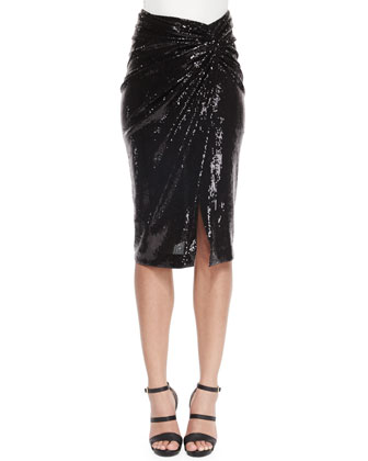 Sequined Twist-Knot Skirt