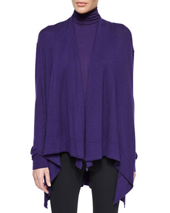 Draped Cashmere Cozy Cardigan