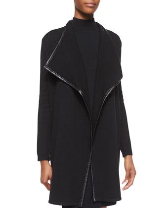 Cashmere Drape-Neck Cardigan & Cashmere Sleeveless Dress