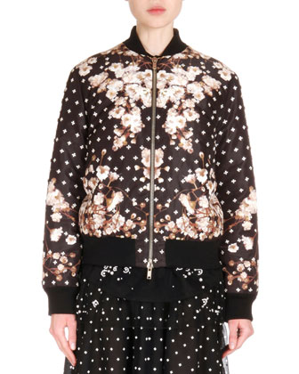 Reversible Bomber Jacket, Black/Multi