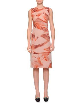 Slim-Fit Shearling Toggle Coat & Arizona Printed Pintucked Dress