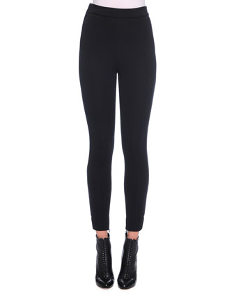 Ankle-Zip Leggings, Black