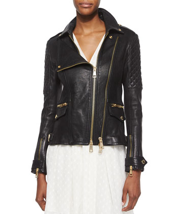 Remmington Lamb Leather Biker Jacket